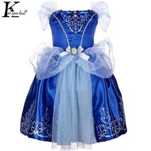 KEAIYOUHUO Mädchen Kleid Rapunzel Aurora Cinderella Kleider Für Mädchen Kinderkleidung Party Prinzessin Kleider Kostüm Für Kinder