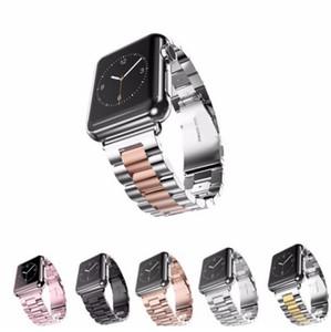 Correia de relógio de aço inoxidável do metal, substituição luxuosa de Auniquestyle Correia de relógio da correia iWatch com fecho de dobramento durável para o relógio de 42mm