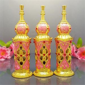 10ml dekorative emtpy Glasminiaturflaschen für arabischen Parfümölduft, hochwertige Glastropfflasche mit Kristallkappe