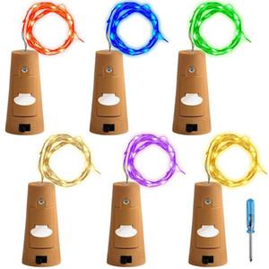 Lumières de bouteille En forme de liège Mini lumières à cordes Bouteille de vin Bande de fées lumières à piles étoiles pour bricolage Noël Fête de mariage