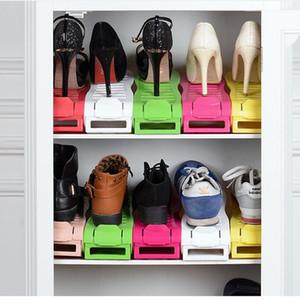 Обувь держатель многоцветный дисплей стойку обувь организатор экономия пространства пластиковые стойки хранения главная сад для мужчин woem девушка обувь