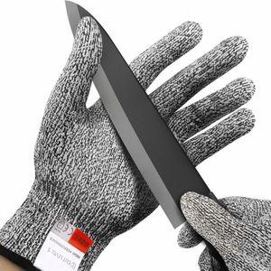 مقاومة للقطع قفازات مكافحة سكين قفازات بالمنشار السلامة المستوى 5 حماية مطبخ بقاء الصيد والعتاد في الهواء الطلق التخييم أداة NY009