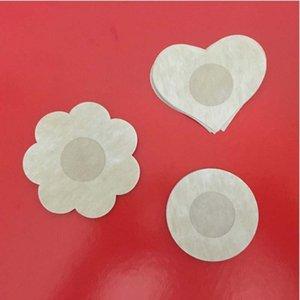 Оптовая цветок / круглая / сердце стили сердца невидимые без бредоволока Brackbloe Brash Brara Pad Clavage English Stick Nipple Cover Бесплатный корабль бюстгальтер