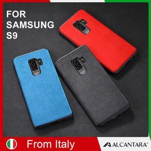 SanCore Samsung S9 PRO phoneCase Deri ALCANTARA Kapak 6 renk fasion İş tpu deri lüks premium cep telefonu kabuk Durumda