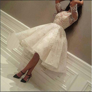 2018 Arabic Dubai Ball Gown Cocktail Dresses Cheap Organza Pleats 1 2 Sleeves Lace Applique Beading Formal Evening Party Gowns Custom