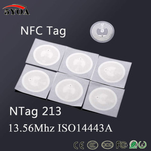 5YOA 100pcs / lot NFC etiqueta etiqueta de 13,56 MHz ISO14443A NTAG213 clave Etiquetas Llaveros Llavero simbólico Patrulla etiqueta RFID etiqueta Badge