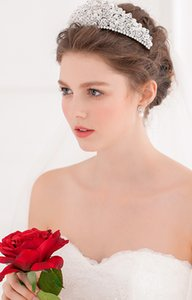 Superbe strass complet cristaux strass couronne mariage bandeau diadème de mariée