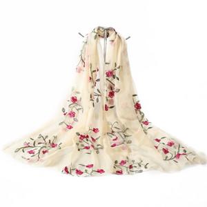 뜨거운 2018 새로운 브랜드 여성 스카프 봄 여름 실크 스카프 shawls 및 랩 레이디 비치 stoles hijab foulard