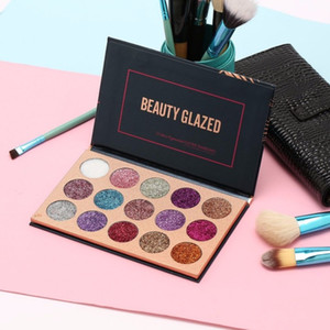 Beauty Glazed Nake Eye Shadow Glitter Pallete Matte and Shimmer Eyeshadow Palettes Naked Smoky Makeup Eye Shadow Primer