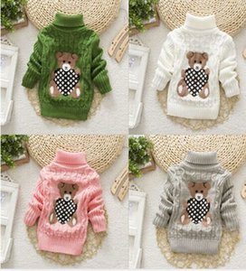 new 2019 baby girls boys autumn winter wear warm cartoon sweaters children pullovers outerwear babi turtleneck sweater