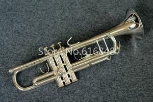 무료 배송 브랜드 악기 TR305S Bb 트럼펫 고품질의 황동 튜브 실버 도금 표면 악기 케이스 마우스 피스
