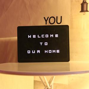 Puzzle DIY LED Light Box Board Peg Avis aux lettres et symboles, personnalisé Light Box Illuminez Message Board pour la maison Décoration