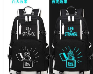 Nova Vida é Estranho Jogo Mochila mulheres Strange Life Mochila homens bolsa de Ombro viagem Mochilas Menina Adolescente