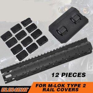 전술 Mlok 유형 2 가로장 덮개 eMag Pul 유형 2 M lok SLOT 체계 가로장위원회 옥외 사냥 실력을위한 12 PC