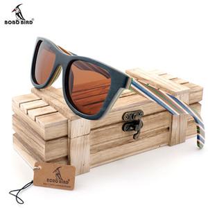 BOBO BIRD AG011b Marca Diseño Vidrios originales de madera masculino marco de madera de colores gafas de sol polarizadas de los hombres 2017