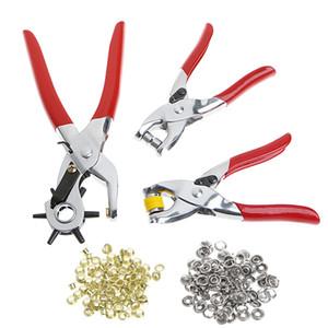 3 unids orificio de cuero herramienta de perforación ojales ojales alicates de mano herramientas de perforación del agujero del agujero de perforación de la herramienta de perforación del punzón pinzas