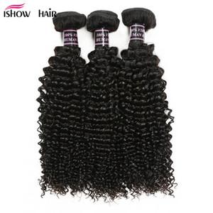 En gros Non Transformés 8A Vison Brésilien Bouclés Vierges Cheveux 3 Fais Bon