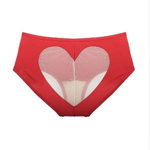TERMEZY kadın Külot Seksi Bikini Aşk Kalp Cut Out Alt Beachwear Kalça Asansör Kadınlar için Seksi Külot Düz Renk külot
