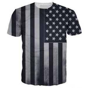 American Flag 3D Divertenti Magliette Nuovi Uomini / Donne di Stampa 3D Carattere T-Shirt Maglietta Femminile Sexy Maglietta Tee Top Vestiti ya12