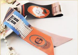 Buchstabe-neuer Tendenz-Band-Beutel-Griff-Schal-kleines Band-Haar-Band Bandeaus-Halsband-Mädchens Dekoration ZSBD95 Tropfen-Verschiffen S18101904