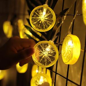 Limon dilimi dize lamba kız kalp odası düzeni gece lambası meyve modelleme lamba parti dekorasyon fener