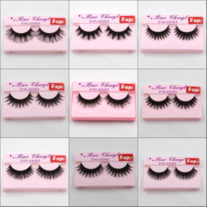 X-up 3D Strip Mink Lashes Natural Thick Handmade False Fake Eyelashes Eye Lashes Makeup Extension Hot Sale