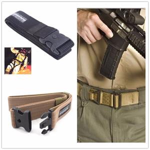 Universal Tamaño libre Durable BlackHawk Nylon Cinturón táctico Correa del pantalón Cinturón con hebilla ABS Equipo de combate para deportes al aire libre