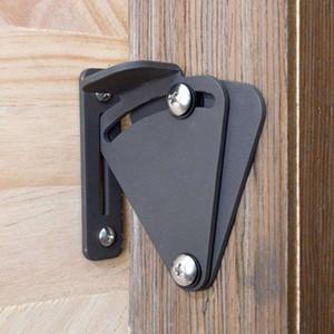 Fermo di portello di scivolamento del portone di porta scorrevole di porta del granaio del ferro solido nero di grande dimensione per la porta di legno