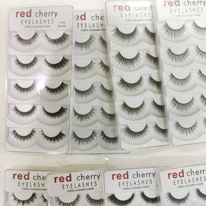 2018 New Red Cherry falsche Wimpern 5 Paare / pack 8 Styles natürliche lange professionelles Make-up-große Augen High Quality