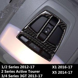 In fibra di carbonio del tetto dell'automobile Lampada lettura cornice decorazione decalcomanie 2pcs per BMW 1 2 3 4 Serie 3GT X1 X5 luce di cortesia Trim