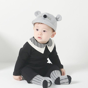 Bebê recém-nascido dos desenhos animados cat design chapéu crianças boné de beisebol meninos meninas de algodão macio viseiras infantil peaked cap chapéus de sol