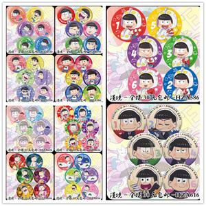 venta al por mayor 6 unids / set 58 MM Osomatsu san Sr. Osomatsu San Matsuno Ichimatsu Matsuno San Cute Borthers broche de los iconos iconos insignia