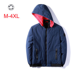 Woxingwosu outono e inverno parkas com capuz homens, engrossado, puro, baixo, algodão, curto, tamanho grande jaqueta de algodão casual M a 4xl