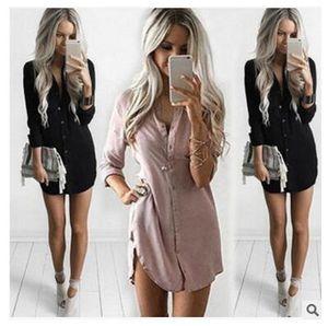 캐쥬얼 탑 여성 블라우스 버스트 섹시 슬림베이스 셔츠 Small V-neck Button 긴 소매 셔츠 Women Tops Clothes Spring