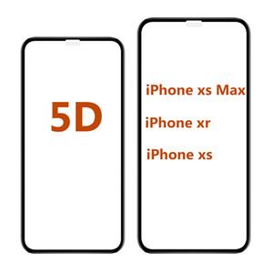 5d curvo vidro temperado para iphone xr 6.1 8 7 6 além de ultra-suave de alta qualidade filme protetor de tela cola completa para iphone x 8 7 6 s