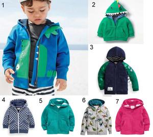 In ins ребенок детская одежда куртка пальто весна падение теплые с длинным рукавом животных дизайн с капюшоном молнии