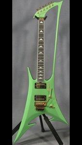 New Abstract Enterprize Guitar NOVITÀ Roman Abstract Metallic green Neck Through Body chitarra elettrica