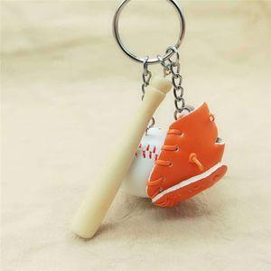 Sport Baseball goves portachiavi Legno Mazza da baseball Portachiavi Portachiavi modo dei monili anelli chiave del sacchetto si blocca Moda