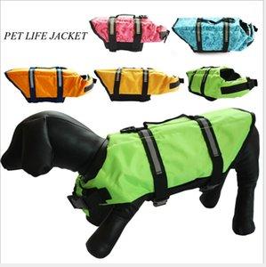Cão de estimação Colete salva-vidas Animal de Estimação Natação Roupa De Banho Roupas de Segurança Colete Respirável Preserver Cão Natação Roupas
