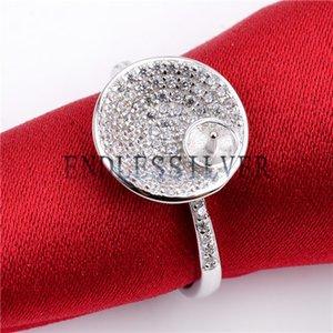 Микро проложить Циркон кольцо параметры обручальное участие стерлингового серебра 925 ювелирных изделий подарок выводы палку на жемчуге