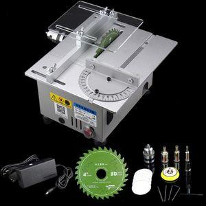 Table en aluminium miniature vu haute précision DC 24V 7000RPM machine de découpe DIY modèle scies charpenterie de précision de coupe tronçonneuse