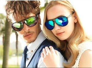 Brand New Hommes et Femmes anti ultraviolets lunettes de soleil de grande taille Neutre couleur film mercure miroir Accessoires de mode Livraison gratuite