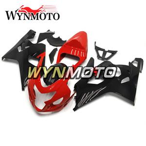 Rouge Noir Moto carénages pour Suzuki GSXR600 GSXR750 K4 Année 2004 2005 04 05 Kit complet Carénage moto Cowling