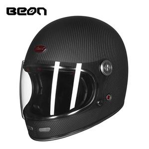2018 New chegada capacete venda quente motocicleta ECE certificada completo cara barock capacete material de fibra de carbono fiabilidade