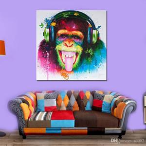Animal бескаркасных Draw Основные Орангутанг Картина маслом на холсте Home Decor моды Смешные обезьяны гориллы стены Картина 16kx5 ZZ