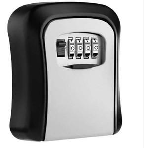 Scatola di sicurezza a chiave fissata al muro Chiave in lega di alluminio Cassetta di sicurezza a prova di intemperie 4 cifre Combinazione di chiavi Scatole di serratura di stoccaggio Indoor Outdoor