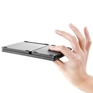 Tragbare faltbare Bluetooth-Tastatur, wiederaufladbare drahtlose faltbare Minitastatur mit Touchpad für Tablet Samsung oder andere Handys