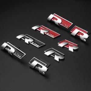 자동차 금속 R 로고 VW Touran, Tiguan, LAVIDA, 골프 6 7, MK 6 7GTI, CC, 새 폴로, 폴로, 보라, 패스포트 용 Rline 로고 문장 스티커