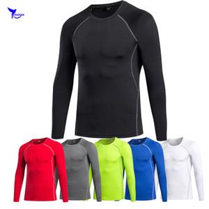 T-shirt maniche lunghe da uomo Fitness Rashguard T Shirt da uomo aderenti a compressione termica T-Shirt da allenamento termica MMA Crossfit