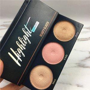 2018 New Beauty Glazed Palette Highlighter Shimmer Eyeshadow Powder 3 Color Palette Beauty Glazed alta calidad gratis DHL